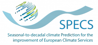 Seasonal-to-decadal climate prediction Services (SPECS) Logo